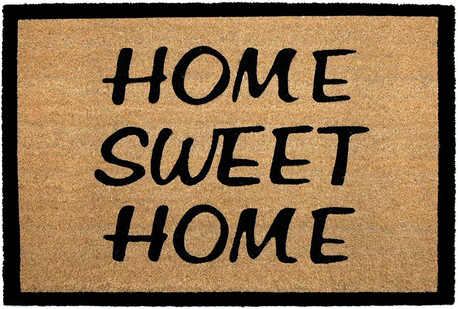 NIKKY HOME Coir Welcome Mats for Front Door Non Slip Home Doormat with Word Home Sweet Home - 36 X 24 Inch