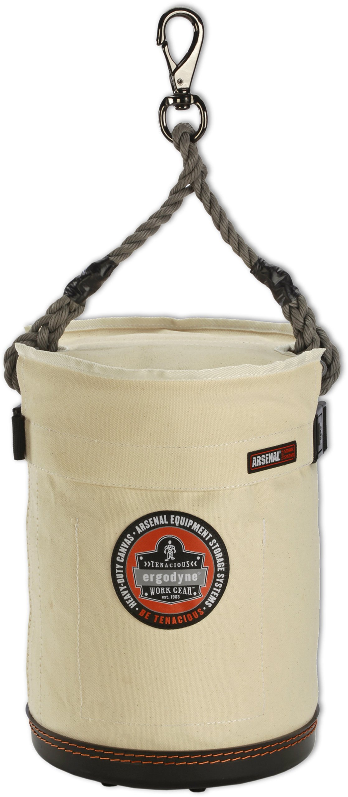 Ergodyne Arsenal 5744T 10-Inch Top Diameter by 14-Inch Height Small Bucket with Safety Top and Snap
