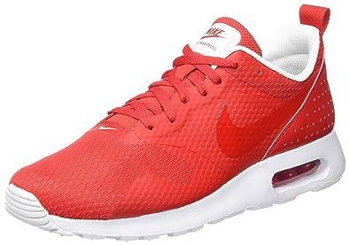 superior quality cca5b d9315 Nike AIR Max Tavas, Baskets Homme, Rouge Blanc/Universitérouge, 42.5 EU