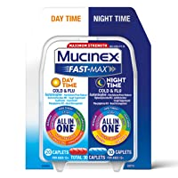 Mucinex Fast-Max Day Time Cold & Flu and Night Time Cold & Flu Medicine, 30 Caplets...
