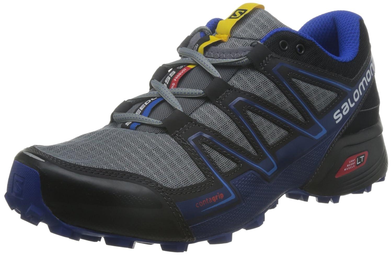Salomon L39078600, Zapatillas de Trail Running para Hombre 42 2/3 EU Gris (Pearl Grey / Black / Bright Blue)