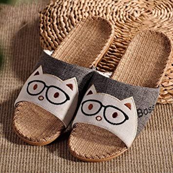 b7f377f5baf6d Amazon.com: NACOLA Summer Linen Anti-Slip House Indoor Open Toe ...