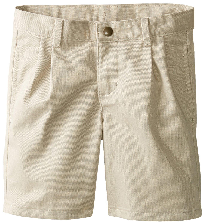 IZOD Little Boys' Pleated Short, Khaki, 5 Regular