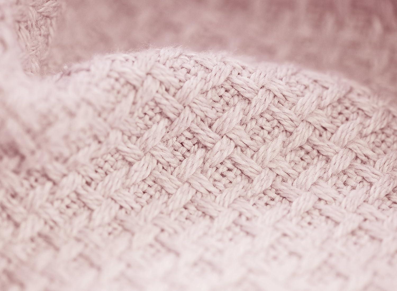 Zoog Coton Bio Naturel Teinture de qualit/é premium Certifi/é GOTS Non-chemical non toxique 100/% coton bio doux Couverture 78,7/x 101,6/cm Baby Bleu et Rose pour enfant en tricot Lange