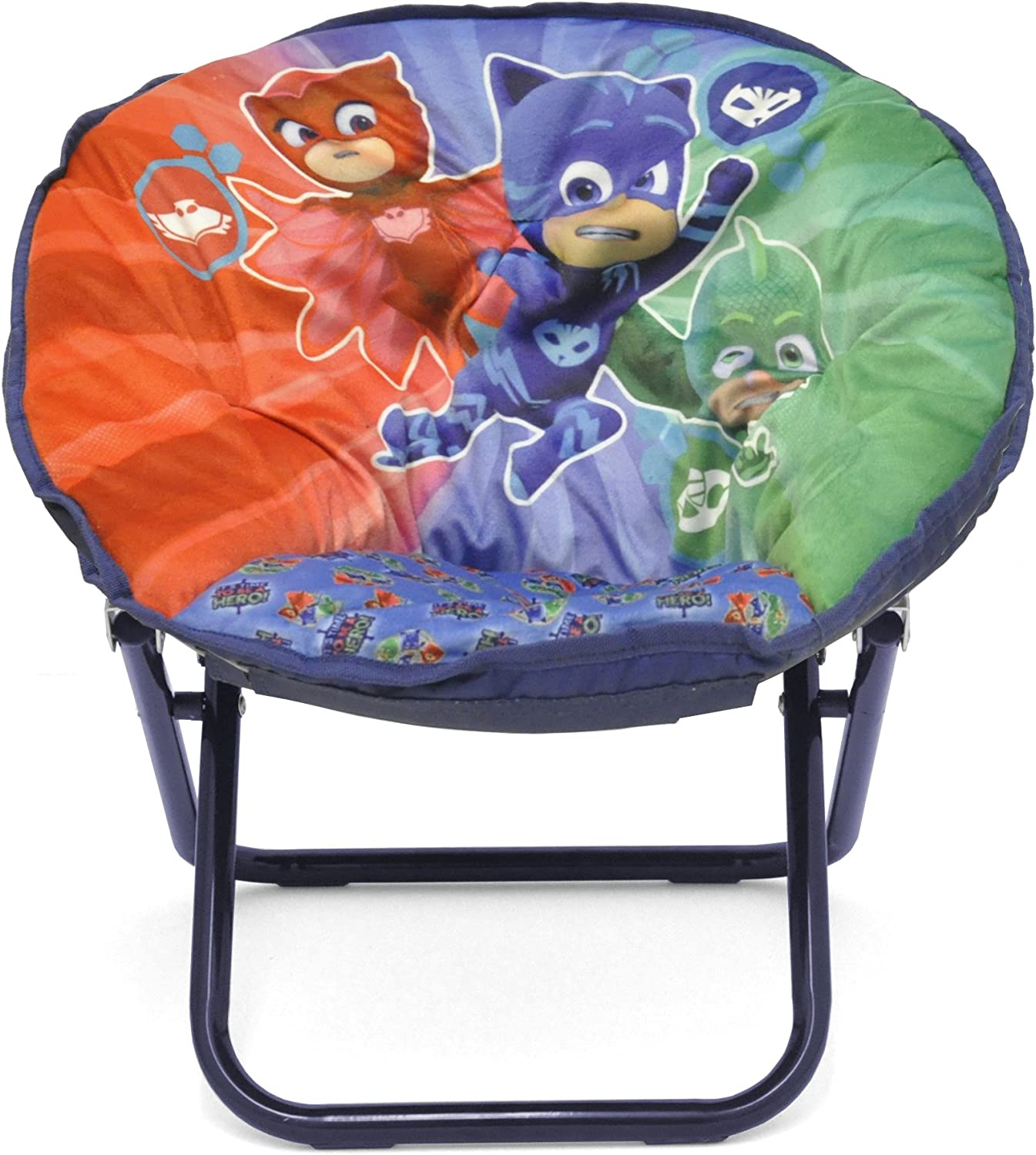 """Idea Nuova Nickelodeon PJ Mask Toddler 19"""" Folding Saucer Chair with Cushion, Ages 3+"""