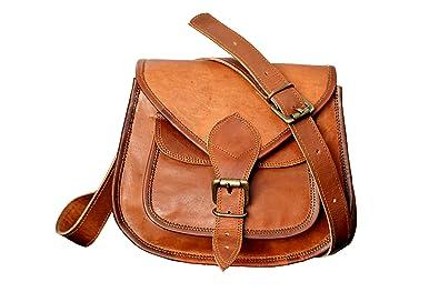 Amazon.com: Spot On pequeño bolso de mano de piel mujeres ...