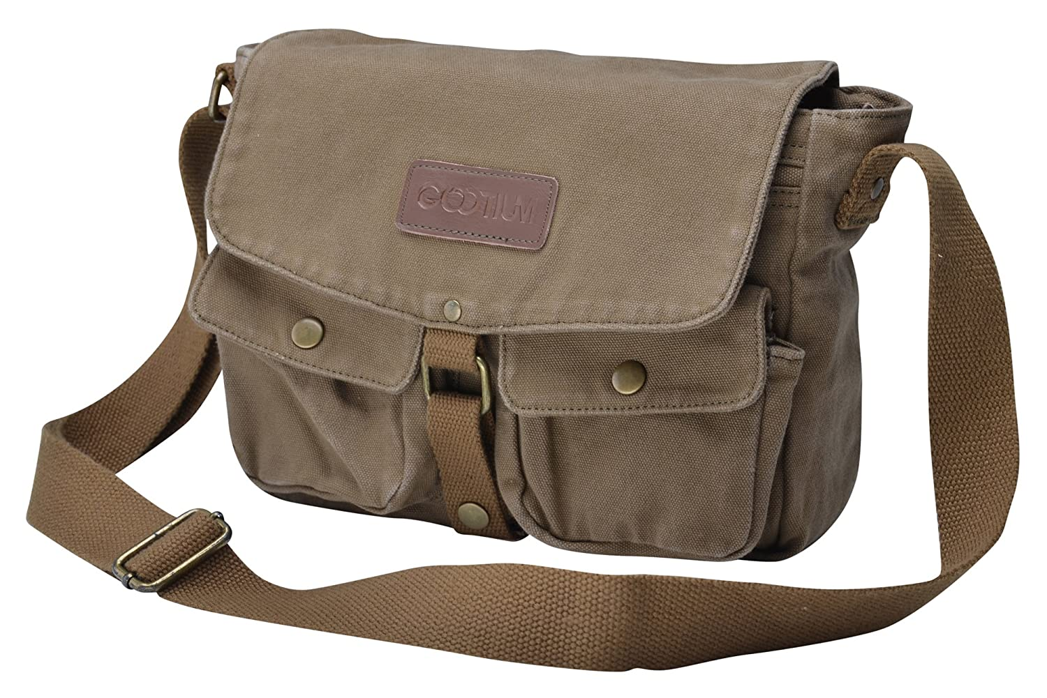 0fa25991b3 Gootium Vintage Canvas Messenger Bag Men s Crossbody Bag