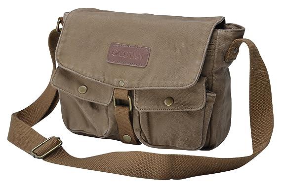 Amazon.com | Gootium 30624AMG Vintage Canvas Messenger Bag Men's ...
