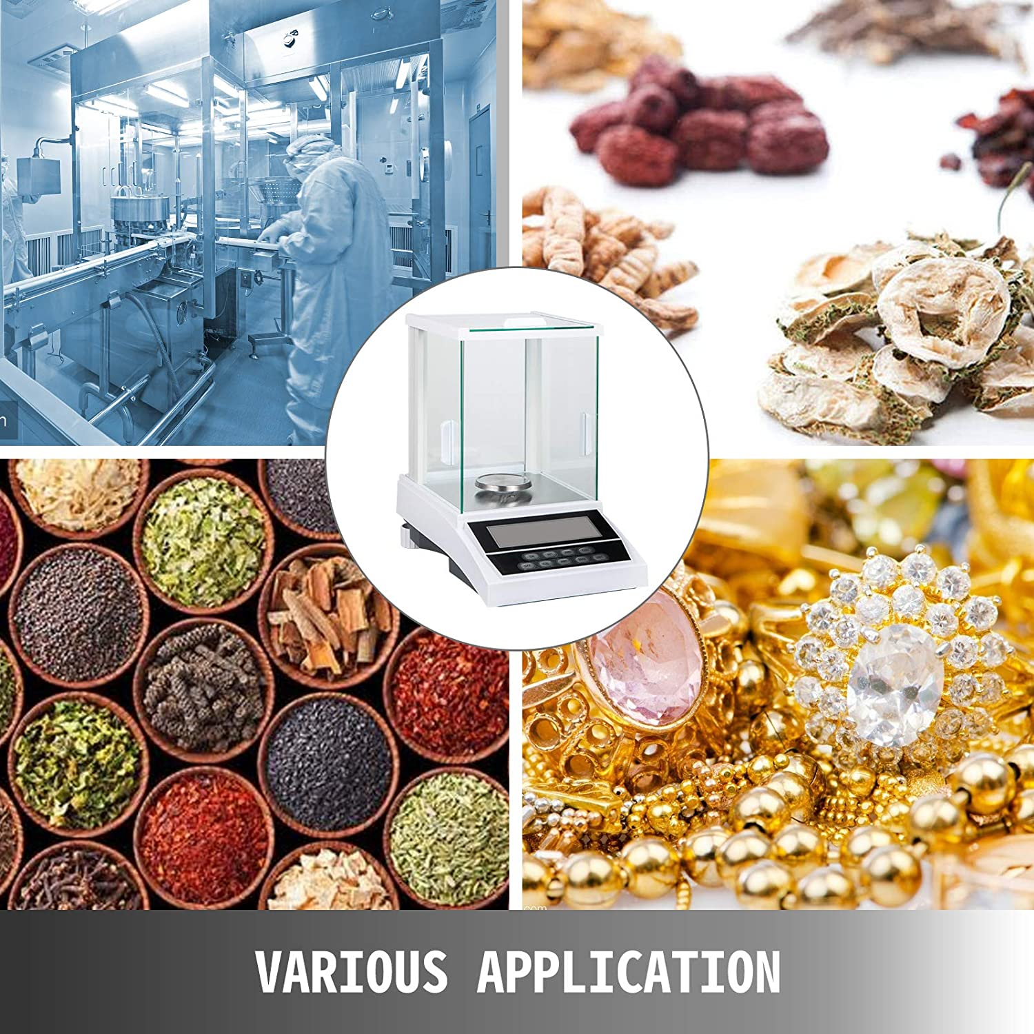 for Laboratory Pharmacy High Accuracy Balance with 80 mm Pallet Digital Scientific Lab Scale VEVOR Analytical Balance 120g x 0.1 mg Analytical Scale High Precision Electronic Analytical Balance