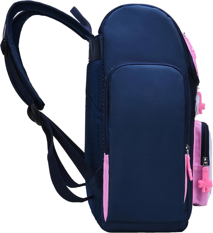 Waterproof Bagpack Pink School Bag Cute Bookbag for Kids 6-10 Backpack for Girls