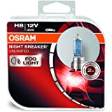 OSRAM 64212NBU-HCB NIGHT BREAKER UNLIMITED H8 Halogen-Scheinwerferlampe, 12V PKW, Duobox (2 Stück)