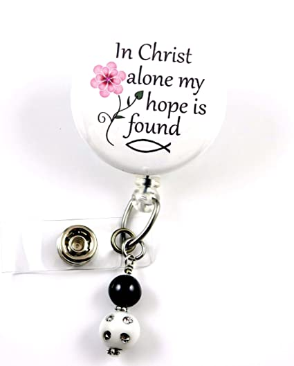 Amazon com : In Christ Alone My Hope is Found White Mylar - Nurse