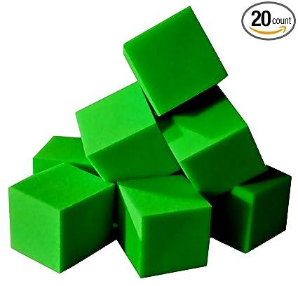 Amazon.com: Espuma Pits bloques/cubos 20 Pcs. (Verde Lima) 5 ...