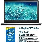 Dell Inspiron 5759 17.3-Inch Laptop (6th Generation Intel Core i7-6500U Processor, 8 GB RAM, 1 TB HDD, Windows 7 Pro)