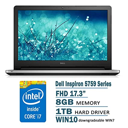 Amazon.com: Dell Inspiron 5759 17.3-Inch Laptop (6th Generation Intel Core i7-6500U Processor, 8 GB RAM, 1 TB HDD, Windows 7 Pro): Computers & Accessories