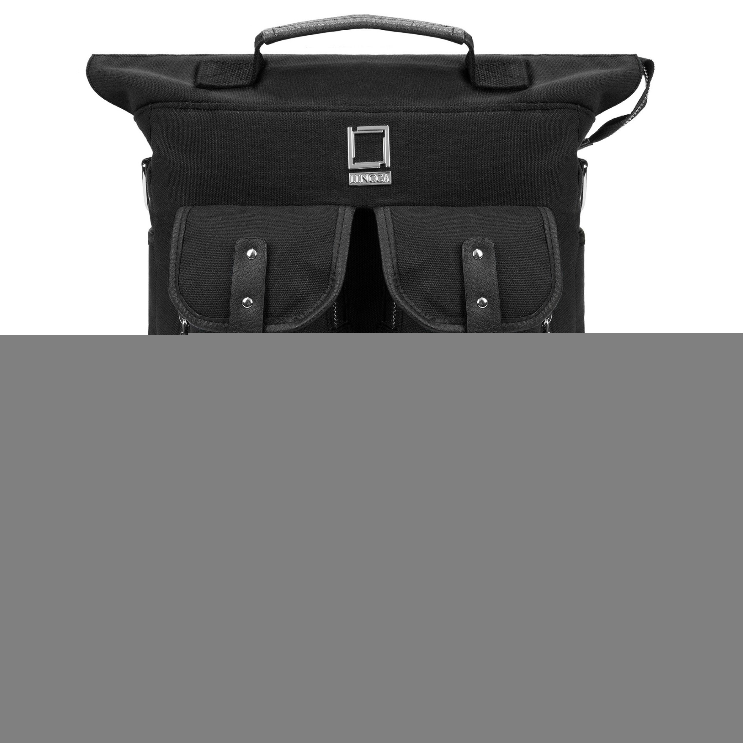 Lencca Popular College Student Daypack / Cause Satchel / Book Carrying Bag For Notebook Samsung Chromebook 2 11.6'' Black & USB 2.0 HUB & HDMI Cable