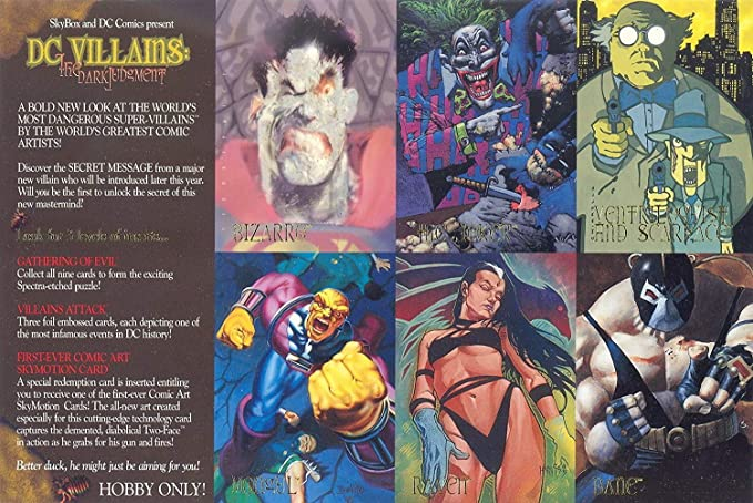 DC VILLAINS THE DARK JUDGEMENT 1995 SKYBOX UNCUT 6-CARD PROMO SHEET Fine  condition at Amazon's Entertainment Collectibles Store