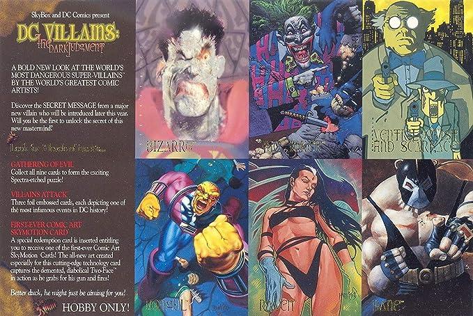 DC VILLAINS THE DARK JUDGEMENT 1995 SKYBOX UNCUT 6-CARD PROMO SHEET Fine  condition at Amazon's Entertainment Collectibles Store