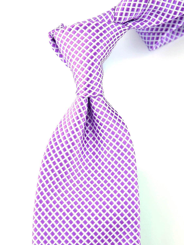 Robert Jensen Finest Silk Handmade Mens Neck Tie Woven Cross-Cut Pattern