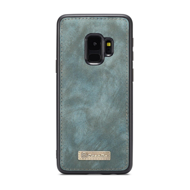 SAVYOU Galaxy S9 Funda Cartera, S9 Funda Magnética Desmontable Folio Cartera Case Slim Back Cover & Correa De Mano con Ranuras Tarjetas Cremallera Bolsillos ...