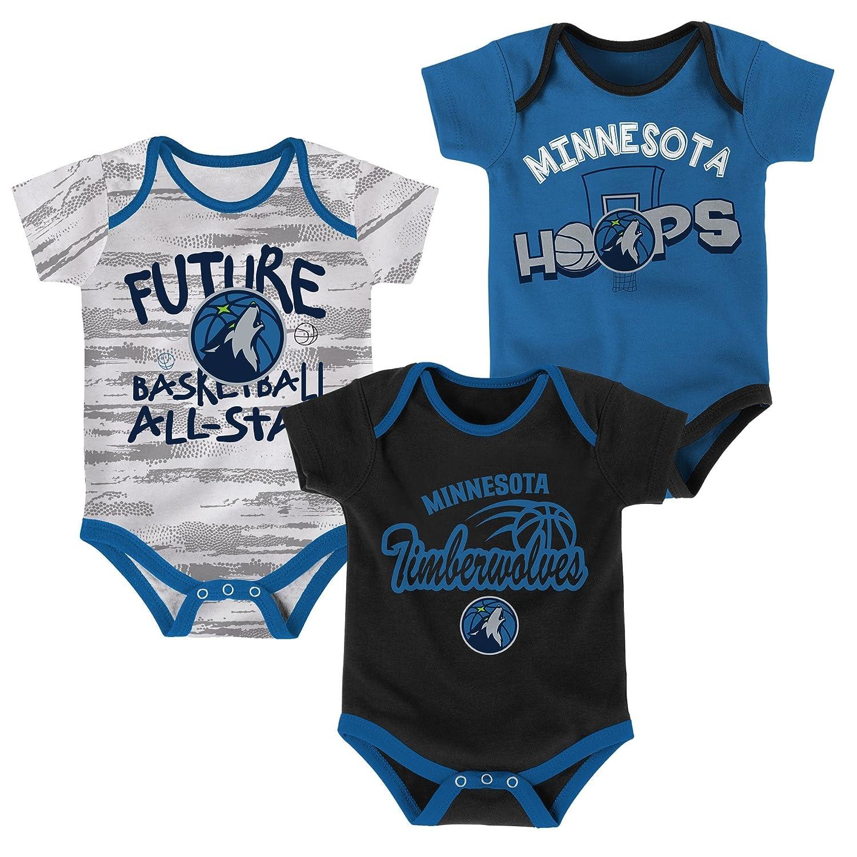 NBA新生児&乳児3piece Onesie Set B076BG2PGK  12 Months 12 Months|Minnesota Timberwolves