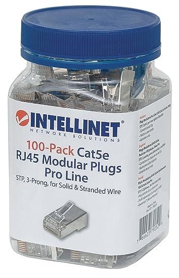 Intellinet 100er-Pack Cat5e RJ45-Modularstecker Pro: Amazon.de ...