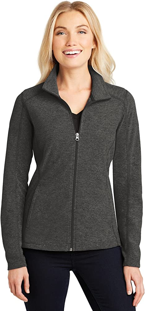 Port Authority Mens Performance Fleece Full-Zip Jacket Charcoal Heather XXX-Large