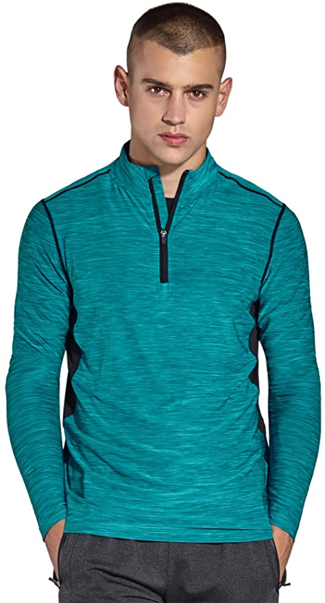 81ec4a7556c1 Komprexx Mens 1/4 Zip Tops - Quick Dry Activewear - Sports Training Workout  Running. Roll over image to zoom in