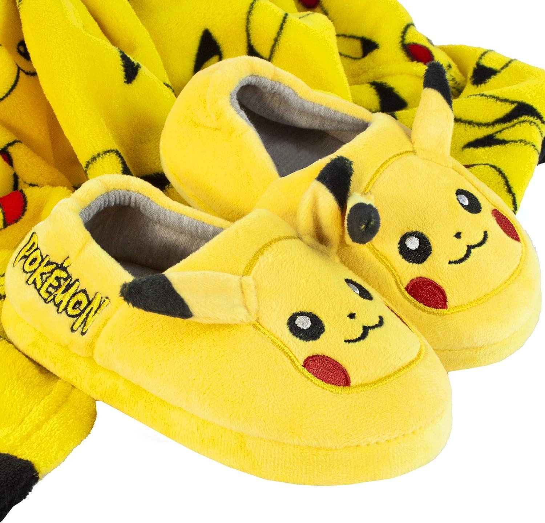 Pokemon Pikachu Zapatillas de Calzado de Car/ácter del Cabrito Ni/ños y Ni/ñas 3D