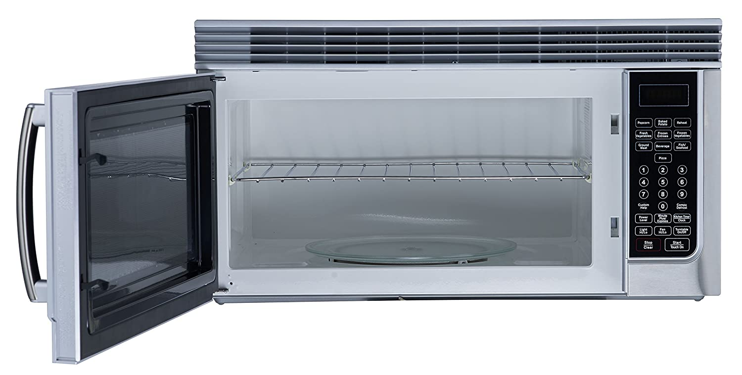 Amazon.com: RCA 1.6 Cubic Foot Over The Range Microwave, Stainless ...