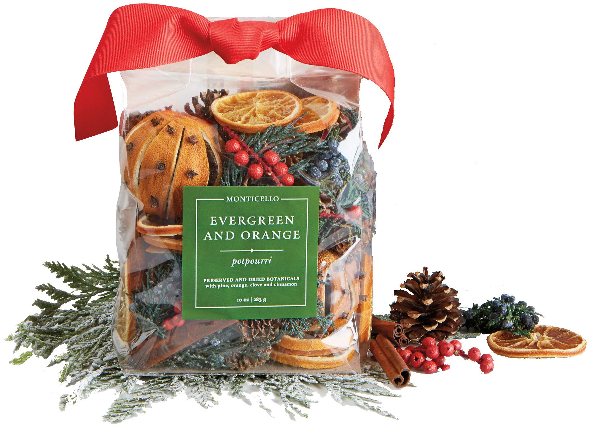 Monticello Evergreen and Orange Potpourri