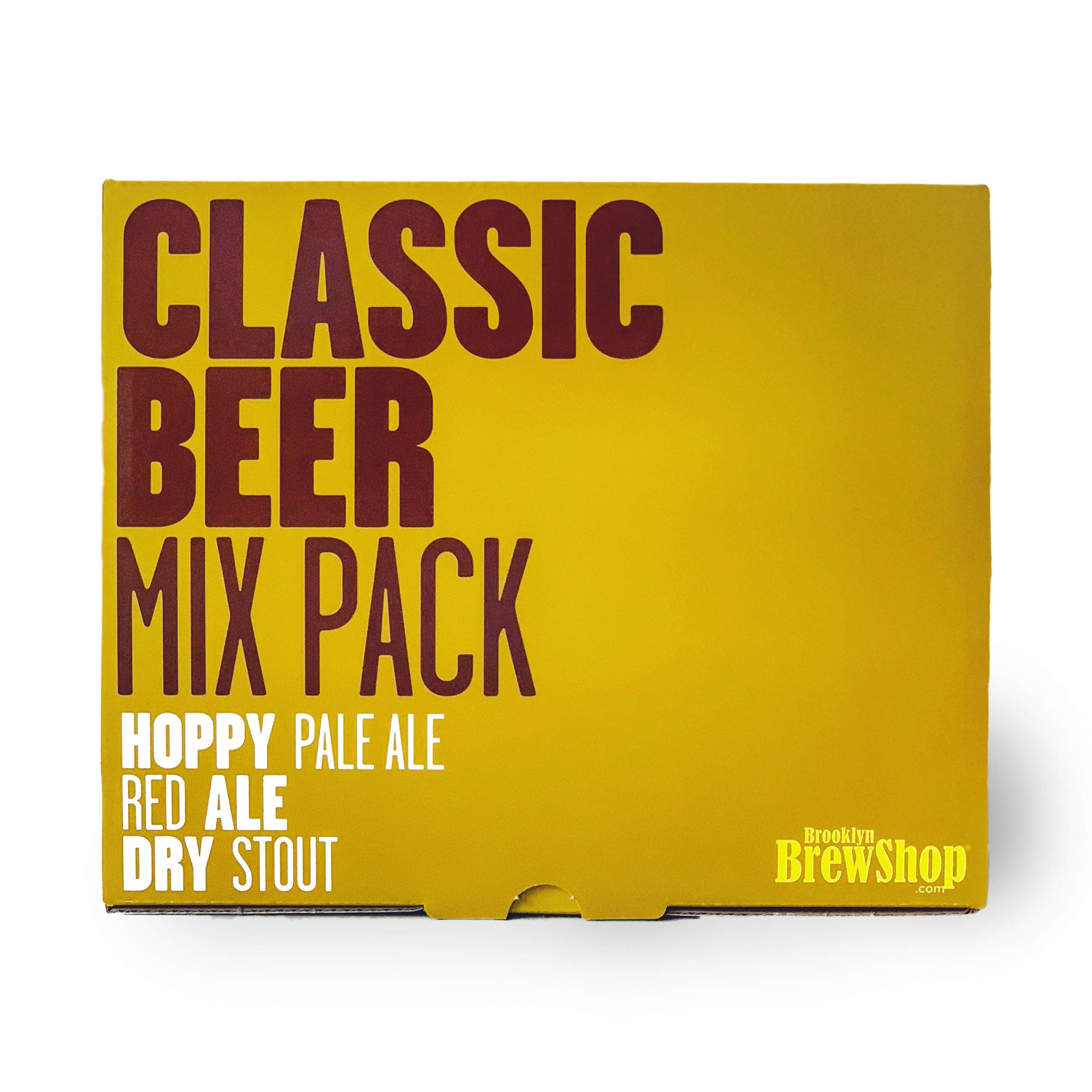Brooklyn Brew Shop BU3CMP Classic 3 Pack Beer Making Refill Ingredient Mix Bundle, 1 Gallon, Hoppy Pale Ale, Red Ale & Dry Stout