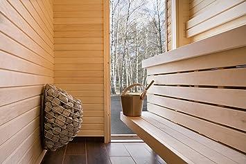 Diseño (4,5 kW calentador de sauna, estufa, horno con control remoto por huum: Amazon.es: Jardín