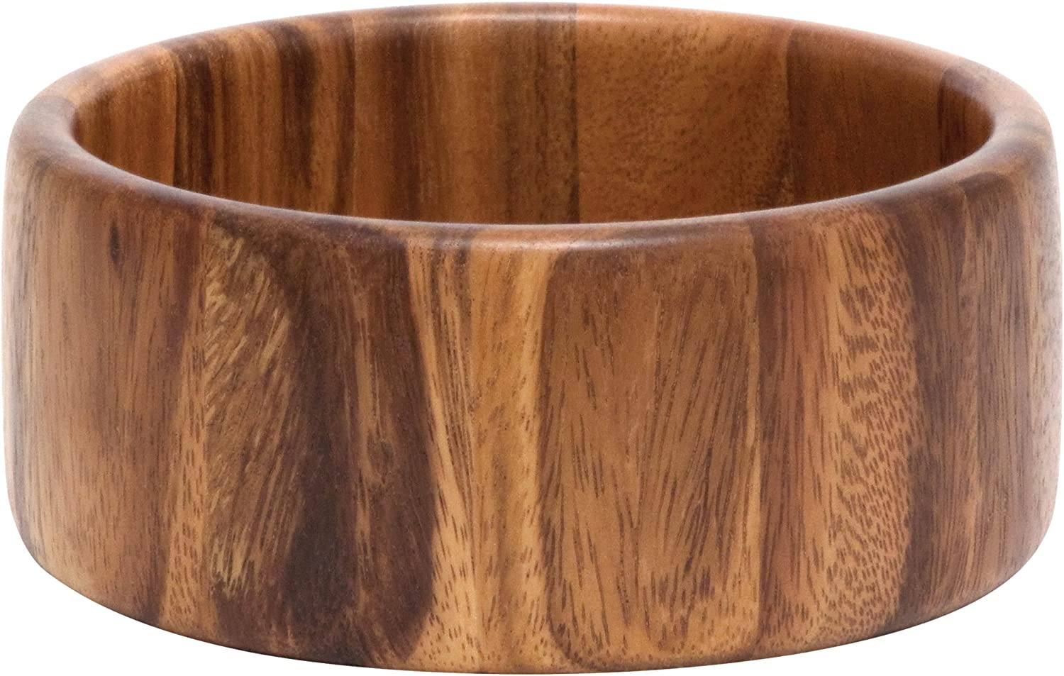 "Lipper International Acacia Straight-Side Serving Bowl for Fruits or Salads, Small, 6"" Diameter x 2.5"" Height, Single Bowl"