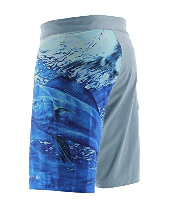 Amazon Com Huk Kc Scott Mahi Board Short Ice Blue 40 Sports
