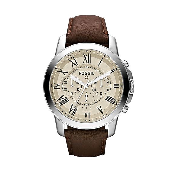 Fossil Reloj Hombre de Analogico con Correa en Cuero FTW10003: Amazon.es: Relojes