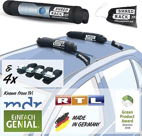 Shred Rack Mini Universal Dachgepäckträger Tasche Mit 4 Spanngurten Auto Dachträger Für Autodach Autodachträger Dach Träger Dach Gepäckträger In Schwarz Auto