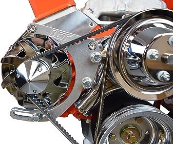SBC Chrome Alternator Bracket w// Hardware LWP SB Chevy 305 350 Long Water Pump