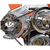 ICT Billet SBC Adjustable Alternator Bracket Low Mount Kit Compatible with Small Block Chevy 305 327 350 5.0L 5.7L V8…