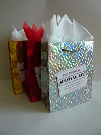 65th Birthday Survival Kit For Female Fun Gift Idea Novelty Present