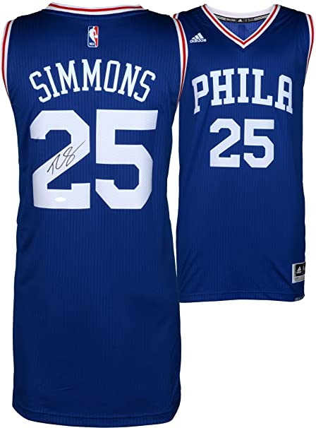 e4127b08917 Ben Simmons Philadelphia 76ers Autographed Away Jersey - Upper Deck -  Fanatics Authentic Certified - Autographed