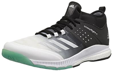 adidas Women's Shoes | Crazyflight X Mid Volleyball Shoe - White/Metallic  Silver/Black (14 M US)
