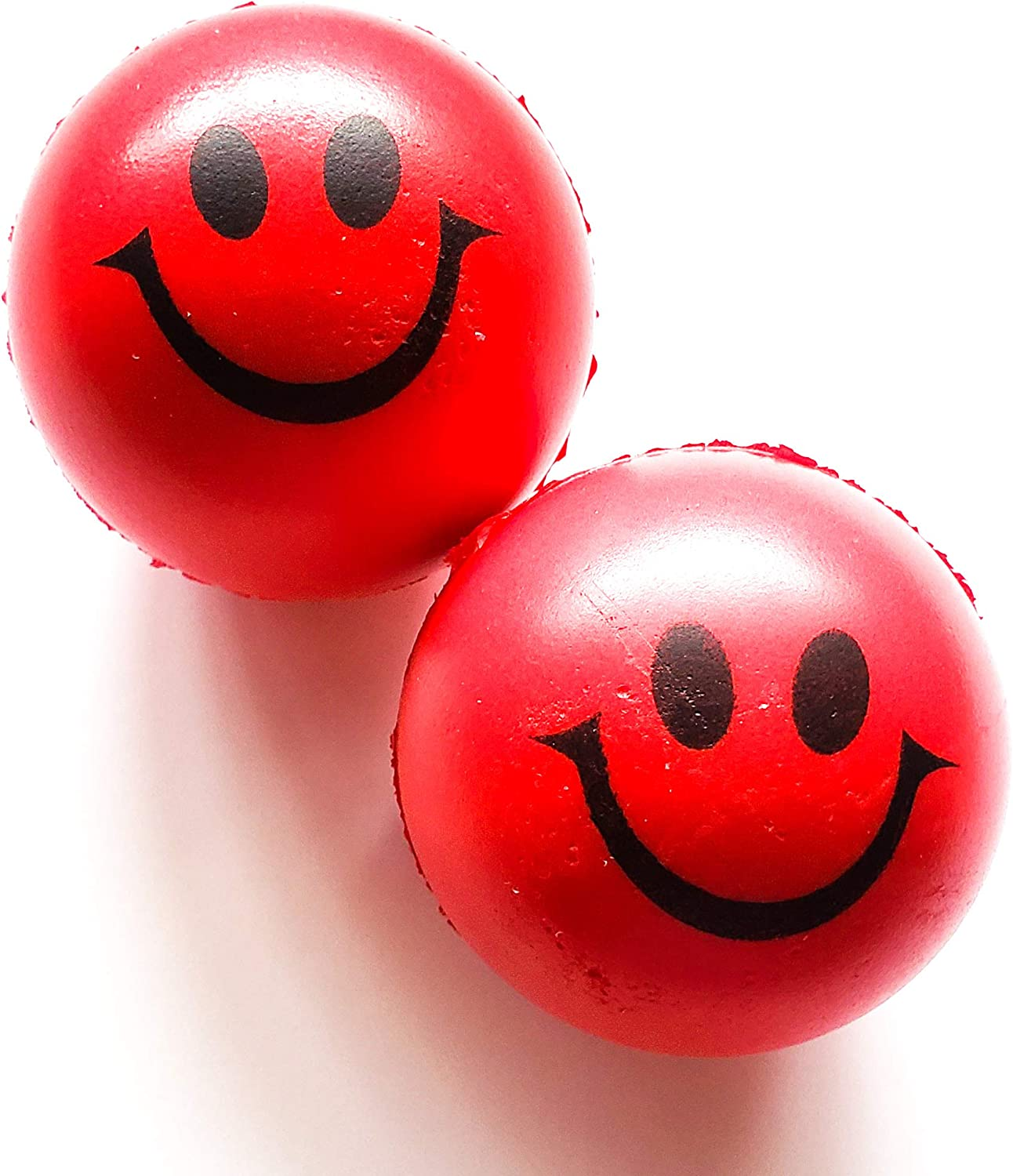 Anti Stress Balls Red Happy Face Pack of 2