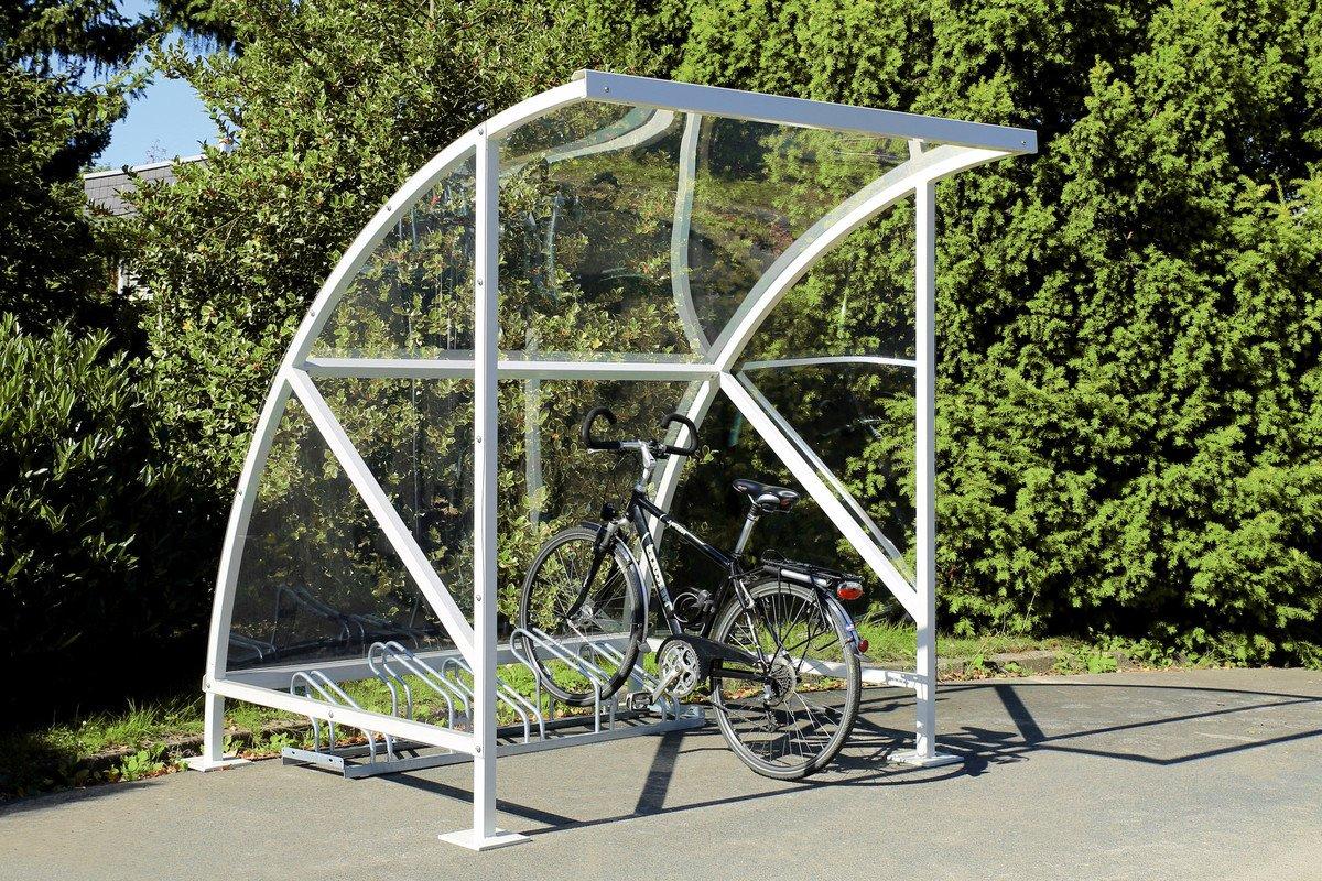#Fahrradüberdachung, Fahrradunterstand mit Bogendach#