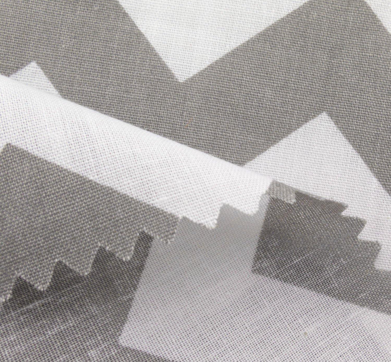 Big Chevron Poly Cotton Grey 60 Inch