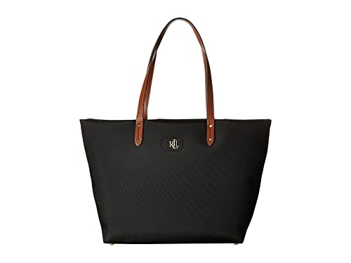 bac8d283e3 Ralph Lauren Black Nylon tote Bag with Gold Initials  Amazon.co.uk  Shoes    Bags