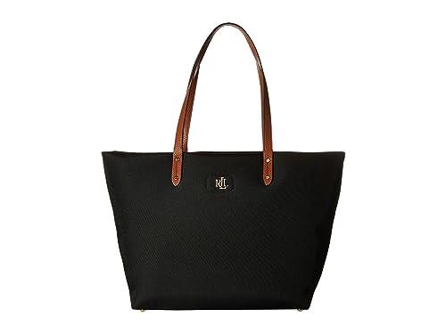 25d4c8401f Ralph Lauren Black Nylon tote Bag with Gold Initials  Amazon.co.uk  Shoes    Bags