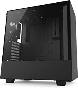 NZXT CA-H500B-B1 – Compact ATX Mid-Tower PC Gaming Case – Tempered Glass Panel –  Enhanced Cable Management System – Water-Cooling Ready - Black - 2018 Model