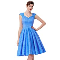 GRACE KARIN Women's 50s Vintage Rockabilly Dress Party Dress Summer Dress