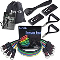 TheFitLife Exercise and Resistance Bands Set - Stackable up to 110 lbs Workout Tubes for Indoor and Outdoor Sports,...